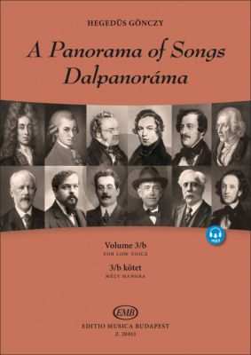 A Panorama of Songs 3B Low Voice (Easy songs from four centuries in six languages) (Book with Audio online)