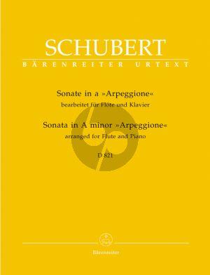Schubert Sonate Arpeggione a-moll D.821 Flöte-Klavier (edited by K.Hunteler) (Barenreiter-Urtext)