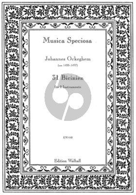 Ockeghem 31 Bicinien 2 Instrumente (edited by Johannes Geiger)