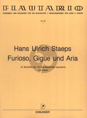 Staeps Furioso, Gigue und Aria fur Sopran oder Altblockflote und Klavier