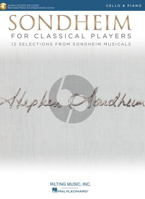 Sondheim for Classical Players for Cello and Piano (Book with Audio online)