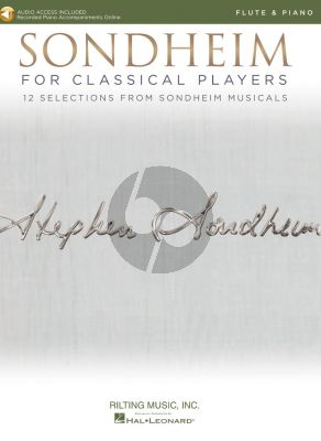 Sondheim for Classical Players for Flute and Piano (Book with Audio online)