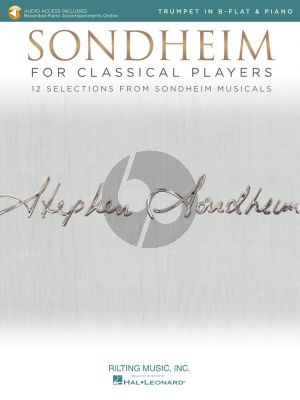 Sondheim for Classical Players for Trumpet and Piano (Book with Audio online)