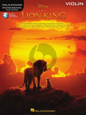 The Lion King for Violin (Book with Audio online)
