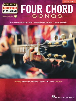 Four Chord Songs for Guitar (Deluxe Guitar Play-Along Volume 13) (Book with Audio online)
