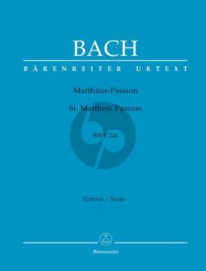 Bach Matthaus Passion BWV 244 Soli-Chor-Orch. Partitur (Alfred Dürr/Max Schneider) (Barenreiter-Urtext)