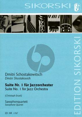 Shorstakovich Suite Nr. 1 für Jazzorchester für Saxophonquartett (SATB) (Part./Stimmen) (arr. Christoph Enzel)