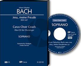 Bach Jesu meine Freude BWV 227 Singstimmen (SSATB) und Instrumente (Alt Chorstimme CD) (Carus Choir Coach)