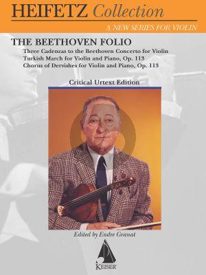 The Beethoven Folio Violin and Piano (Jascha Heifetz Collection)