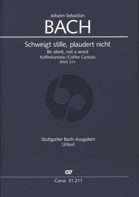 Bach Kantate BWV 211 Schweigt stille, plaudert nicht (Kaffeekantate) (Partitur)                        (deutsch-englisch)