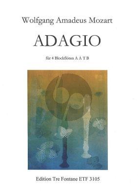 Mozart Adagio KV 580a fur 4 Blockfloten AATB (herausgegeben von Bodil Diesen)