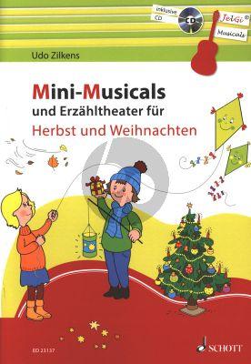 Zilkens Mini-Musicals und Erzähltheater über Herbst und Weihnachten Gitarre (Buch mit CD) (JelGi-Musicals)