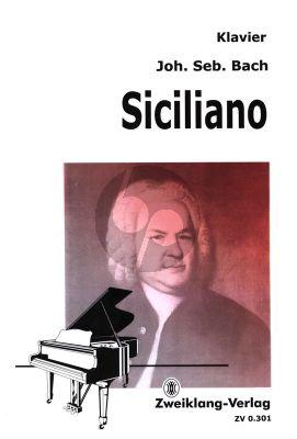 Siciliano aus BWV 1031 fur Klavier