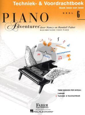 Faber Piano Adventures Techniek- & Voordrachtboek 6 Nederlandse editie