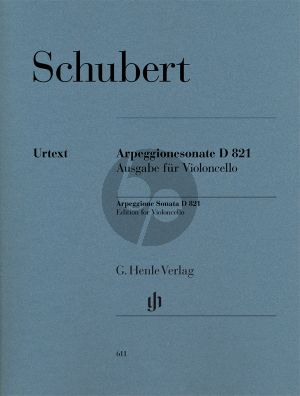 Schubert Sonate Arpeggione a-moll D.821 (Violoncello) (Henle-Urtext)