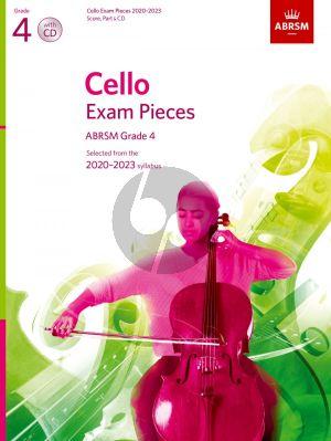 Cello Exam Pieces 2020-2023 Grade 4 Solo Part with Piano and CD