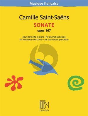 Saint-Saens Sonate Opus 167 Clarinette et Piano (Edmond Lemaitre)