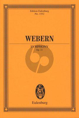 Webern Symphonie Op. 21 Orchester Studienpartitur