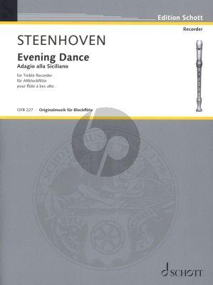 Steenhoven Evening Dance Treble Recorder solo