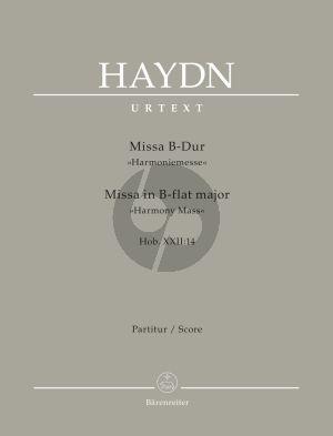 Haydn Messe B-dur (Harmonie-Messe) Hob.XXII:14 Soli-Choir-Orchestra (Full Score) (Friedrich Lippmann)