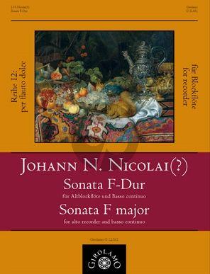 Nicolai Sonate F-dur Altblockflöte und Bc (Peter Thalheimer)