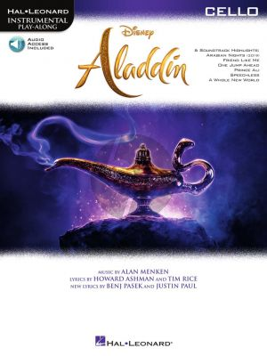 Menken Aladdin for Cello (Instrumental Play-Along) (Book with Audio online)