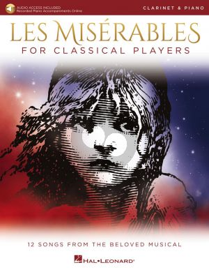Boublil-Schonberg Les Misérables for Classical Players for Clarinet and Piano (Book with Audio online)