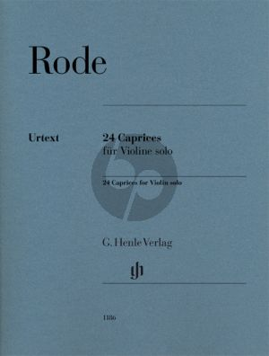 Rode 24 Caprices Violin Solo (Henle-Urtext) (editor Norbert Gretsch and additional markings Eichhorn Friedemann)