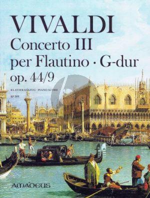 Concerto III RV 444 G-dur Op. 44/9 Flautino-Streicher-Bc Klavierauszug