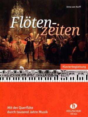 Flötenzeiten 1 bis 4 Flöten Klavierstimme