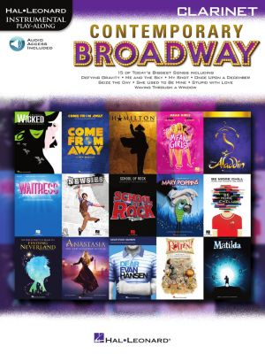 Contemporary Broadway Instrumental Play-Along for Clarinet (Book with Audio online)