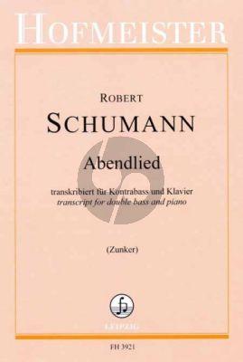 Schumann Abendlied Op. 85 No. 12 Kontrabass und Klavier (transcr. Jakob Zunker)