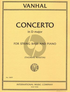 Vanhall Concerto D-major Double Bass and Piano (edited by Thomas Martin)