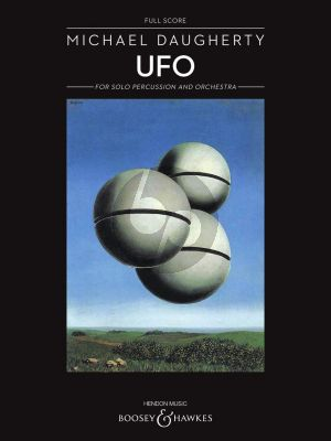 Daugherty UFO for Percussion and Orchestra (Full Score)