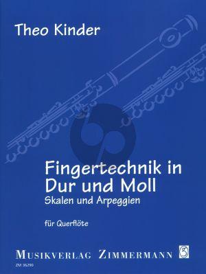 """Kinder Fingertechnik in Dur und Moll fur Querflote (Skalen und Arpeggien) (Jahresgabe 2019 des Vereins """"Freunde der Querflöte e. V."""")"""