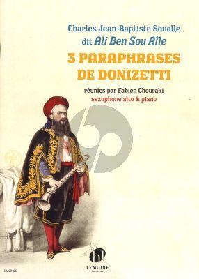 Soualle 3 Paraphrases de Donizetti Saxophone alto-Piano (Fabien Chouraki)