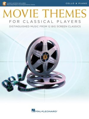 Movie Themes for Classical Players – Cello and Piano (Book with Audio online)