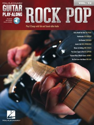 Rock Pop for Guitar (Guitar Play-Along Volume 12) (Book with Audio online)