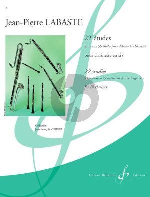 Labaste 22 Etudes pour Clarinette (Suite aux 55 Etudes pour debuter la clarinette)