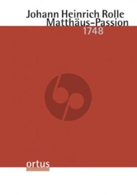 Rolle Matthäus-Passion (1748) Soli-Chor-Orchester (Partitur) (Klaus Winkler)