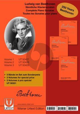 Samtliche Klaviersonaten 3 Bände im Set