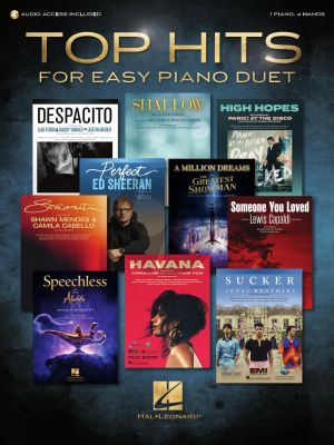 Top Hits for Easy Piano Duet (with recorded accompaniments) (Book with Audio online) (arr. David Pearl)