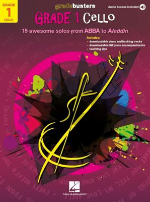 Gradebusters Grade 1 - Cello (15 awesome solos from ABBA to Aladdin) (Book with Audio online)