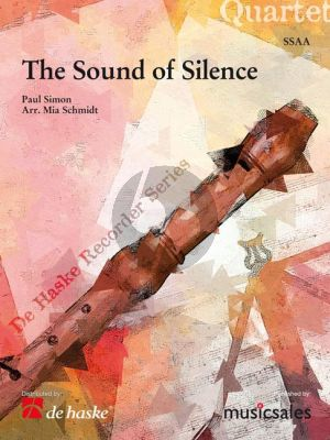 Simon The Sound of Silence for Recorder Quartet (SSAA) (Score/Parts) (arr. Mia Schmidt)