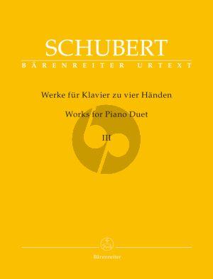 Schubert Werke für Klavier zu 4 Handen Band 3 (Walburga Litschauer / Werner Aderhold)