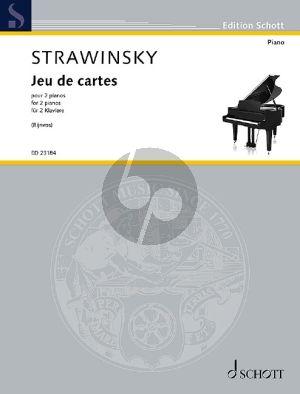 Strawinksy Jeux de Cartes pour 2 pianos (Transcription pour 2 pianos par Richard Rijnvos (2019) d'après la version originale pour orchestre (1936))