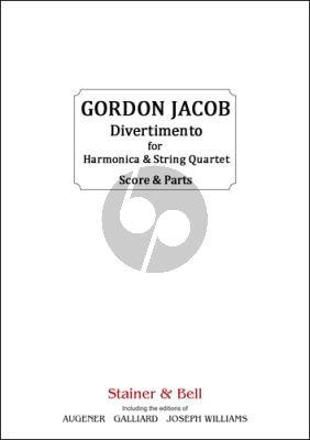 Jacob Divertimento for Harmonica and String Quartet (Score/Parts)