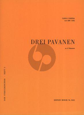 Farina 3 Pavanen fur 4 Instrumenten Violine I, Violine II/Viola I, Violine III/Viola II, Violoncello (Partitur und 6 Stimmen) (Herausgegeben von Helmut Monkemeyer)