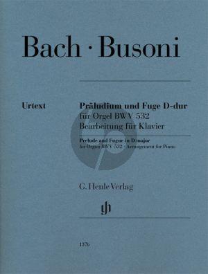 Bach Praeludium und Fuge D-dur BWV 532 für Klavier (arr. Ferrucio Busoni)