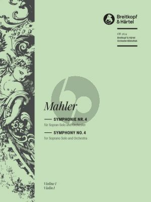 Mahler Symphony No. 4 Soprano and Orchestra Final Version of 1911 (Full Set of Orchestral Parts) (edited by Christian Rudolf Riedel)